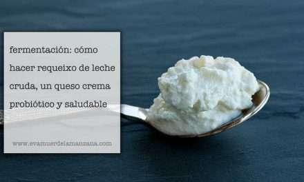 Fermentación: Requeixo de leche cruda, un queso crema saludable