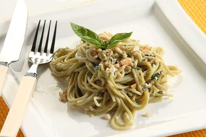 Espaguetis Integrales con queso de kéfir