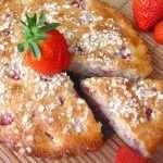 Bizcocho de Fresas con Kéfir y Flocos de Avena