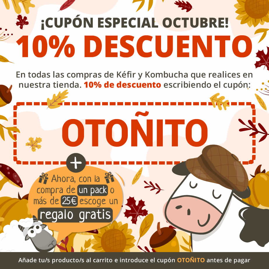 Cupón de descuento 10% - Mes de Octubre