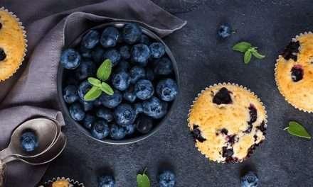 Muffins de limón, blueberries y Kéfir
