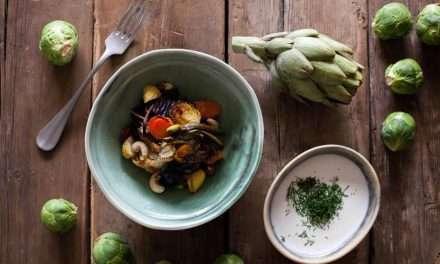 Verduras de Invierno Asadas con Aliño de Kéfir de Leche