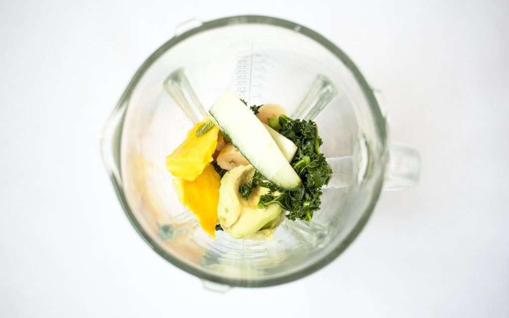 Smoothie verde probiótico con Kéfir de Leche
