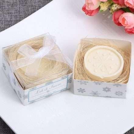 Jabón hecho a mano - Copo de Nieve