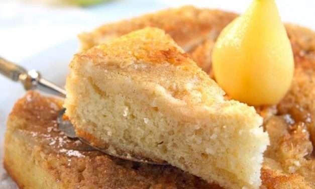 Receta de bizcocho de Kéfir con pera sin gluten
