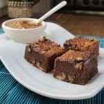 Brownies de avena fermentada con kéfir