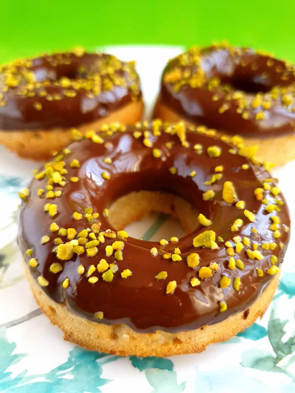 Donuts de kéfir y chocolate saludables