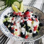 Ensalada de fruta y kéfir