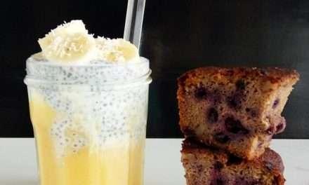 Receta de Pudding de chia con kéfir y fruta