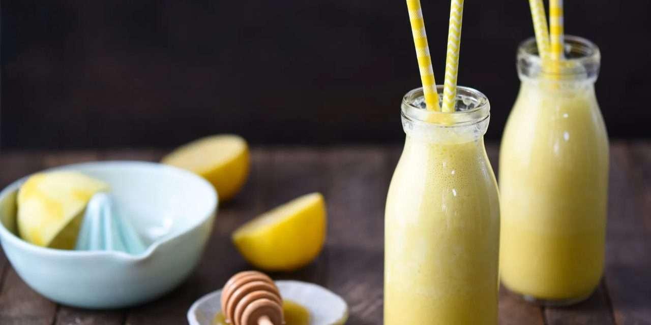 Batido de kéfir con limón