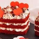 Pastel de Terciopelo Rojo en Forma de Corazón