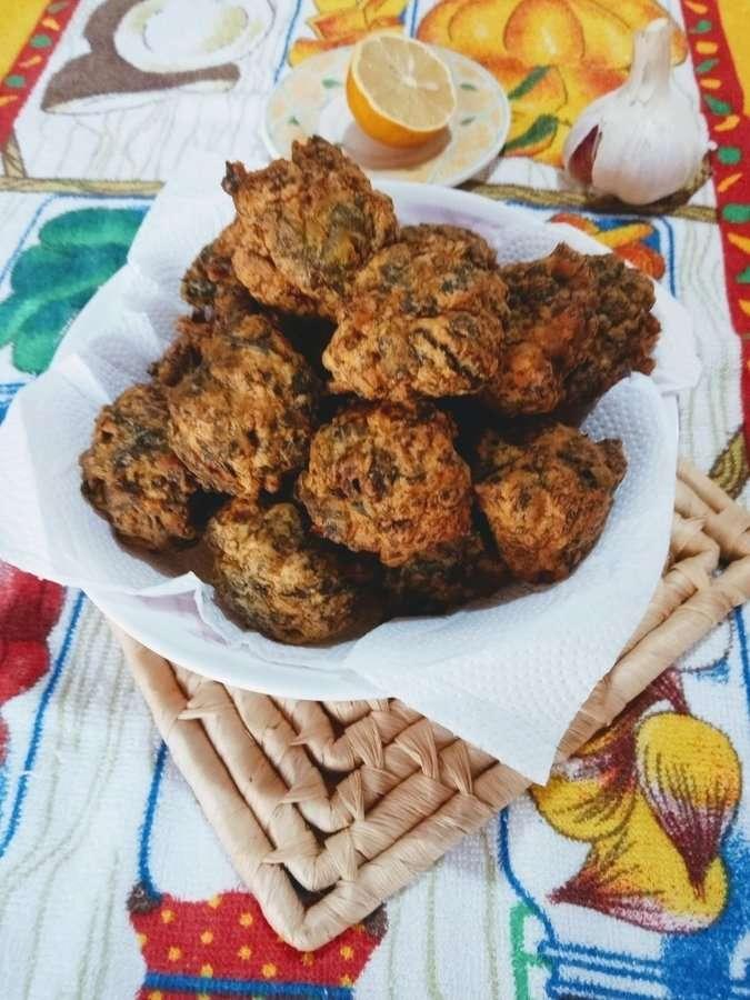 Buñuelos de espinacas y kéfir