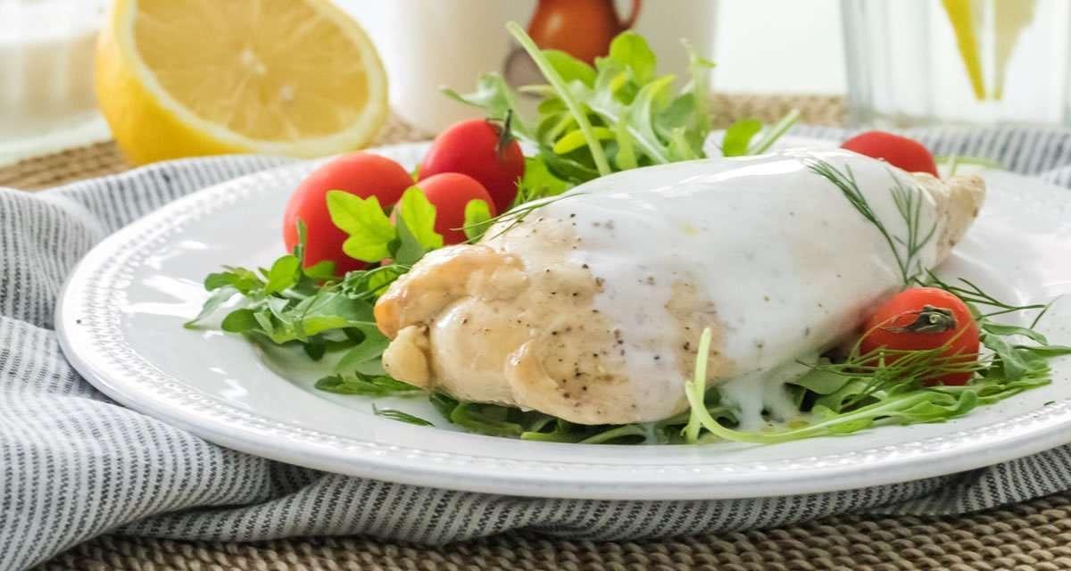 Pollo con Salsa de Kéfir de Leche