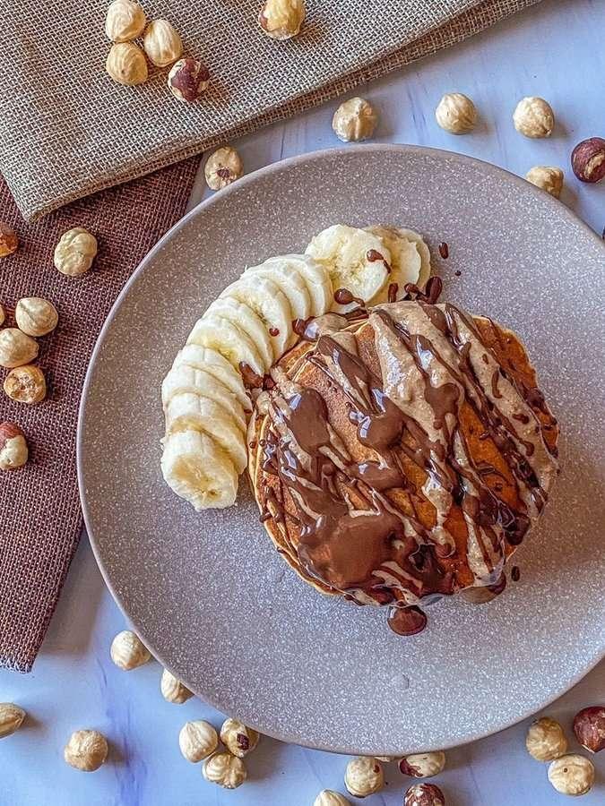 Tortitas de avellana y kéfir sin gluten